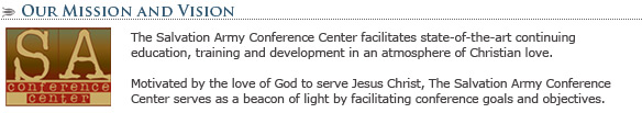 The Salvation Army Conference Center: Mission Statement